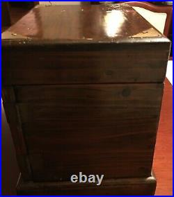 Chinese antique wooden box with drawers jewellery, table-top, humidor