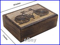 Christmas Thanksgiving Gifts Rustic Wooden Keepsake Storage Box Jewelry With 10