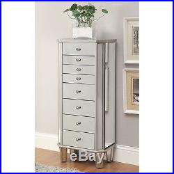 Coaster Jewelry Armoire in Antique Silver