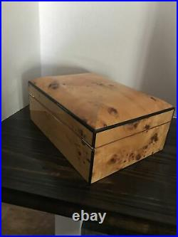 Constantine Wooden Lacquer Locked Large Jewelry Chest