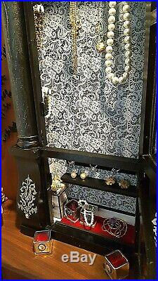 Custom Made Jewelry Box Victorian meets Whimsical Only One Made Wooden