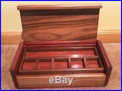 Custom Wooden Jewelry Box Made Of Rare, Exotic South American Woods