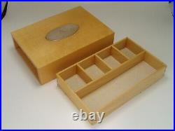 David Linley Wooden Jewellery/cufflinks Box Sycamore Silver Engraved R