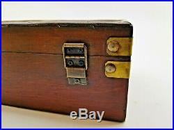 Decorative Vintage Wooden Box with Brass Protectors for Jewelry and Trinkets