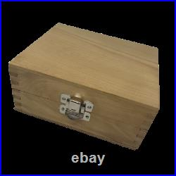 Disc Cutter Multi Set 9 in Wooden Box Metal Jewellery Making Cutting Tool Defect