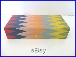 ERCOLANO WOOD INLAY ZAG 11 JEWELRY STORAGE BOX Hand Crafted in ITALY NEW