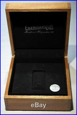Eberhard & Co. Vintage wooden maxi watch box for Chrono 4 models
