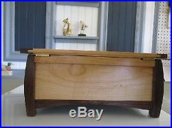 Elegant Hand Crafted Jewelry Box Oriental Style Figured Maple and Walnut