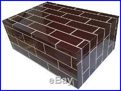 Ercolano Rosewood Wooden Handmade Italian Luxury Brown Jewelry Box with Tray Lar