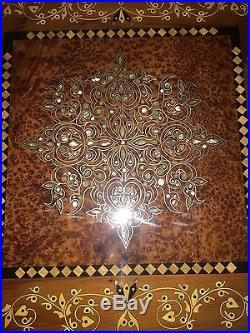 Exquisite Mother Of Pearl Inlaid Hand Made Thuya Wood Jewellery Box