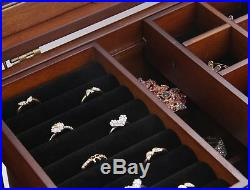 Extra Large Wooden Jewelry Box / Jewel Case Cabinet Armoire Ring Necklacel Gift