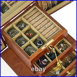 Extra Large Wooden Jewelry Box/Jewel Case Cabinet Armoire Ring Necklacel Gift