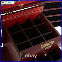 Extra Large Wooden Jewelry Box/Jewel Case Cabinet Armoire Ring Necklacel Gift St