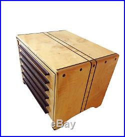Fabulous Unique LG Jewelry Box & Organizer with 6 drawers 15'W by 11.5 H