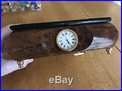 Floral Fur Elise Wooden Music Jewelry Box/Clock made in Italy NWB