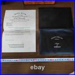 Franck Muller Genuine jewelry watch wooden box case with cloth blank warranty