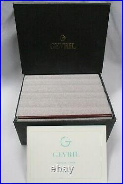 GEVRIL Lacquered Wood Wooden Watch Jewelry Chest Box & Instructions Manual Book