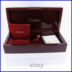 Genuine Cartier Watch Box Jewellery Wooden Loupe Cloth