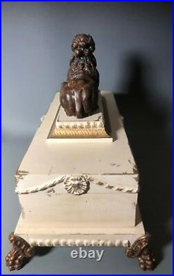Guildmaster Sphinx Wooden Metal Claw Foot Jewelry Trinket Letter Chest 06-2000