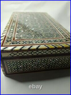 HANDMADE EGYPTIAN WOODEN Inlaid Mother of Pearl Jewelry Box (20x13) cm