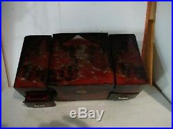 Hand Painted Jewelry Make Up Organizer Music Lacquer Box Chest Wooden Japan