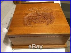 Harley Davidson 2003 Live To Ride/ride To Live Wooden Jewelry/trinket Box With D