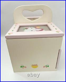 Hello Kitty Sanrio Vintage Wooden Jewelry Box (necklace, Rings, Bracelets)