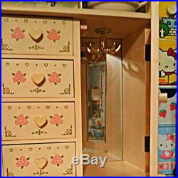Hello kitty Sanrio Wooden chest Jewelry box kawaii rare limited from JAPAN