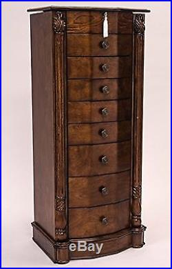 Hives and Honey Large Floor Standing 8 Drawer Wooden Jewelry Armoire with M