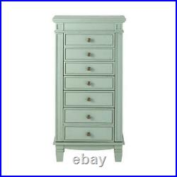Home Decorators Cordelia Wooden Jewelry Armoire with Two-Side Doors Antique Blue