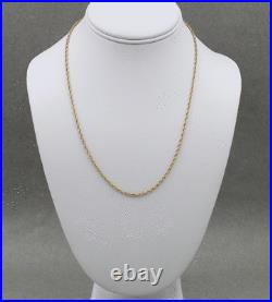 James Avery 14k Yellow Gold Chain 20 inches With Wooden Box & Pouch