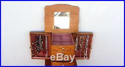 Jewelry Armoire Cabinet Box Storage Chest Organizer With Mirror 40 Tall