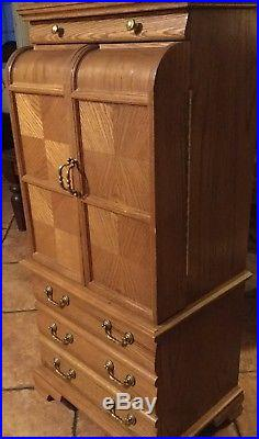 Jewelry Armoire Chest Vintage Cabinet Box Storage Standing Organizer With Drawer