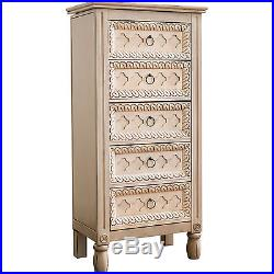 Jewelry Armoire Stand Tall Storage Chest Wood Box Cabinet Drawer Rack Organizer