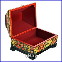 Jewelry Box Casket Chest Khokhloma painting wooden Musical jewellery 9x66,5
