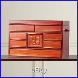 Jewelry Box Storage Chest Drawer Rustic Vintage Antique Wooden Necklace Rings