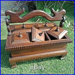 Jewelry Box Thai Teak Wooden, For Ring, Necklace, & Earring Organizer Gift Storage
