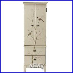 Jewelry Cabinet Armoire Necklace Wood Storage Box 8 Chest Drawer Organizer Stand