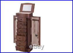 Jewelry Cabinet Armoire Storage Chest Box Stand Organizer Wood Christmas Gift