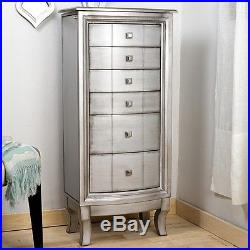 Jewelry Stand Up Armoire Box Antique Style Cabinet Chest Tall Storage Organizer