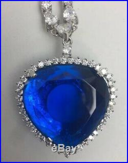 Jill Bailey Titanic Heart Of The Ocean Necklace With Wooden Box Huge HOTO