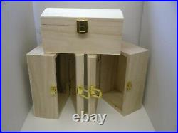 Joblot 36 Wooden Storage/Trinket/Jewellery Box with Gold Latch Curve Shaped NEW