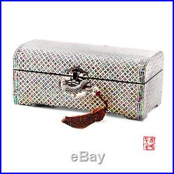 Korean Wooden Jewelry box armoire organizer mother-of-pearl 100% Handmade Gifts