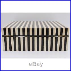 LARGE henri bendel Signature Stripe Lacquer Jewelry Box 712 SOLD OUT
