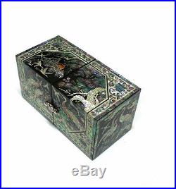 Lacquer ware inlaid new mother of pearl handcrafted jewelry, jewel box gift #1905