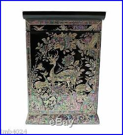 Lacquer ware inlaid new mother of pearl handcrafted jewelry, jewel box gift #2091