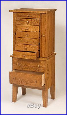 Lancaster County Pa Amish Made Large Jewelry Armoire