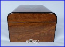 Large Antique Domed Burr Walnut, MOP, Abalone and Parquetry Jewellery Box