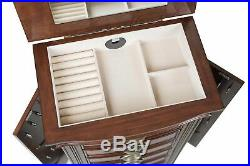 Large Hillary Jewellery Armoire Antique Storage Cabinet Organizer Wooden Chest