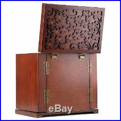 Large Jewellery Box Wooden Jewelry Organizers Storage Display Case Ring Necklace